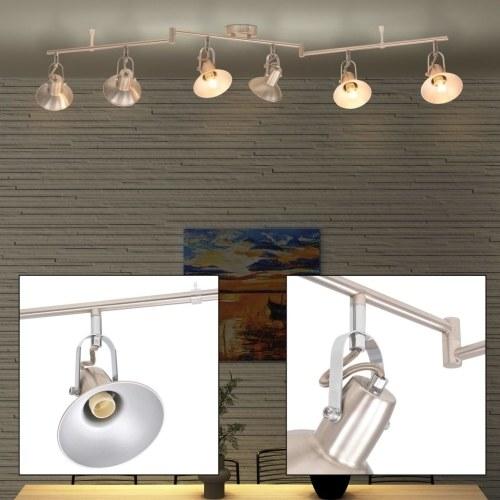 Потолочный светильник для 6 ламп E14 серебристый
