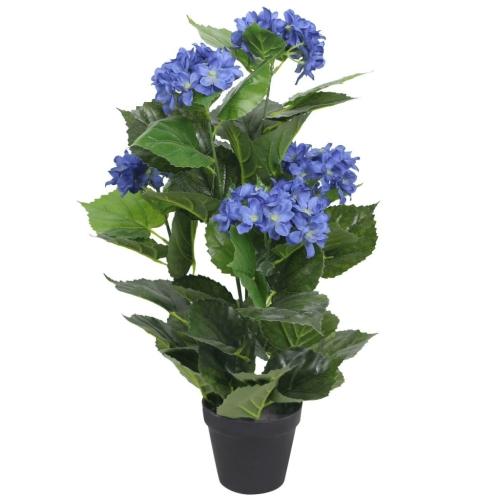 Planta de Hortensia Artificial con maceta 60 cm Azul