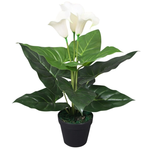 Artificial Calla Lily Plant with Pot 45 cm White