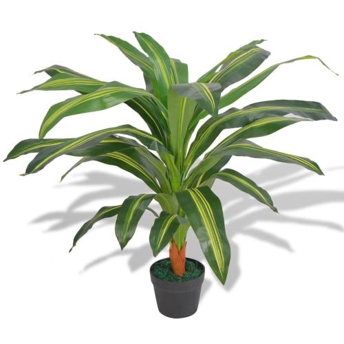 Plante artificielle Dracaena avec pot 90 cm vert
