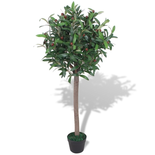Artificial Bay Tree Plant with Pot 120 cm Green