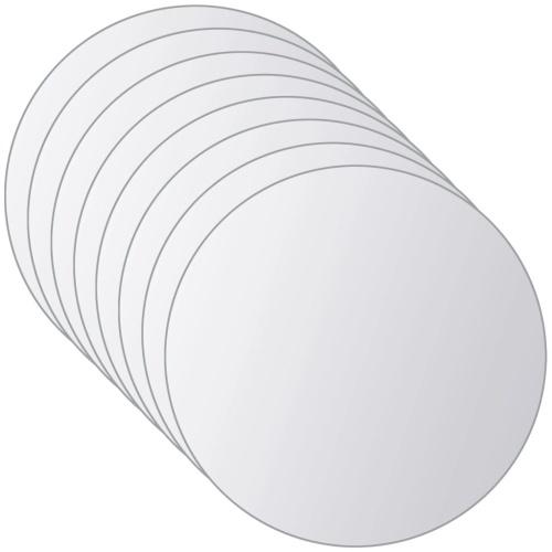 8 шт. Зеркальная плитка с круглым стеклом
