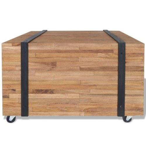 Side table teak 60x60x38 cm