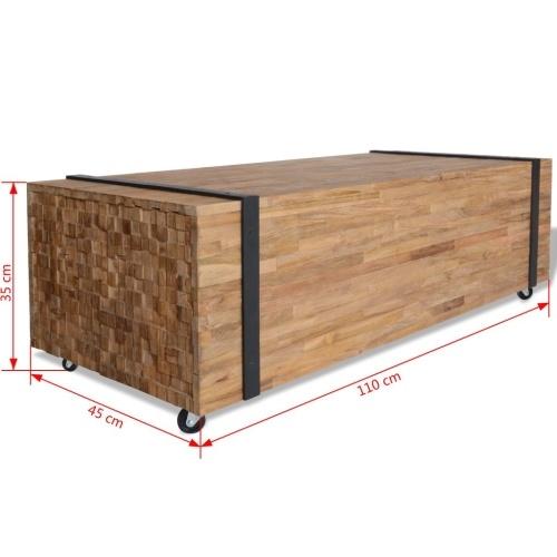 Журнальный стол тик 110x45x35 см
