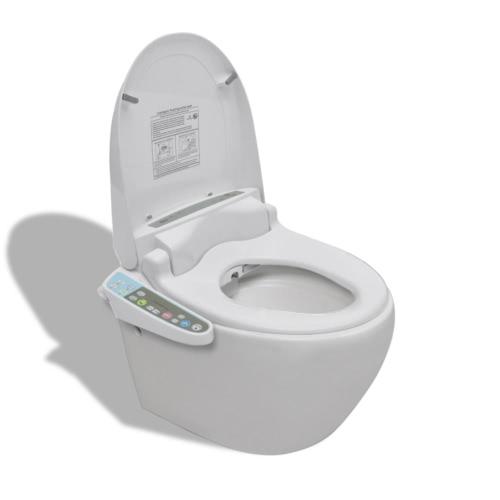 Wand-Hänge WC/Toilette Wandhängend+WC-Sitz Weiß