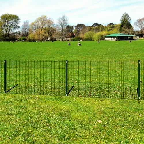 Garten Grenze 2D Eisenzaun Panel + Pfosten Draht 123 cm 10m