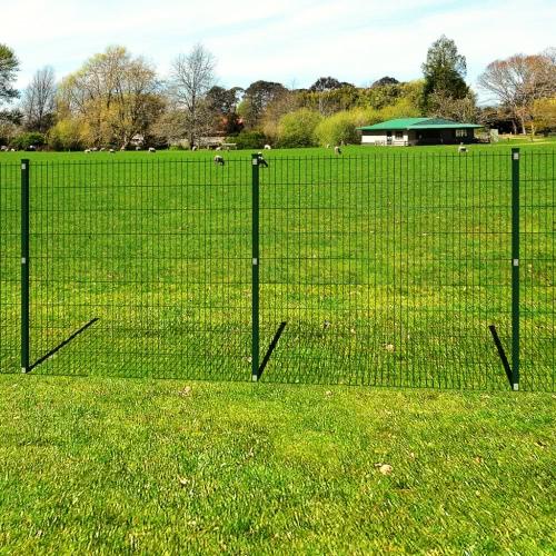 Garten Grenze 2D Eisenzaun Panel + Pfosten Draht 163 cm 10m