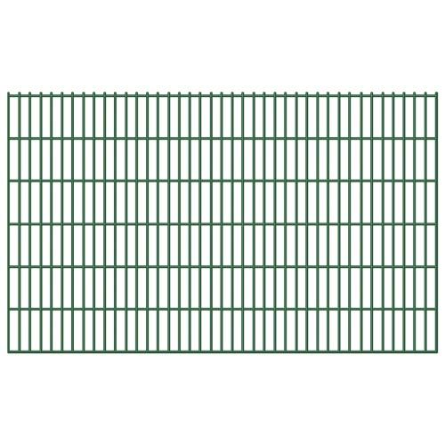 5x 2D Zaunpaneel железной проволоки забор 6/5/6 мм 10 м 123 см