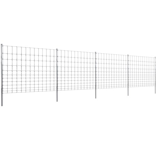 valla de jardín 50m Wildzaun galvanizado posterior 150/12/30