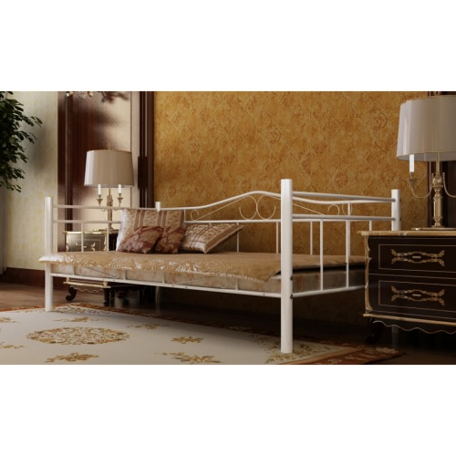 biano cama de metal de 90 x 200 cm con colchón