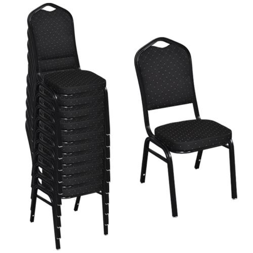 Cena de la silla tapizada Black 10 artículos
