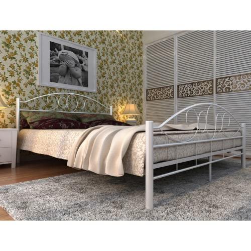 cama metal blanco 180 x 200 cm con colchón
