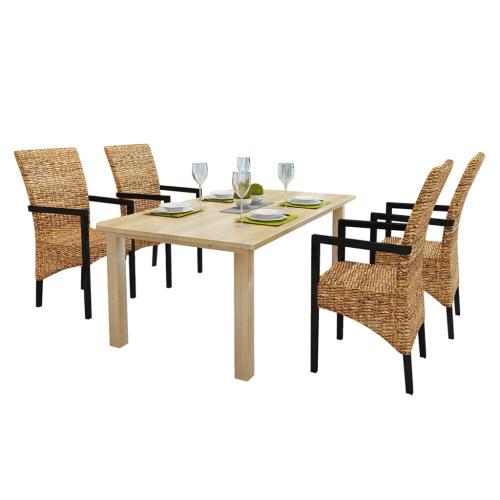 Обеденный стул сделан из рук Abaca с подлокотниками (4 шт)
