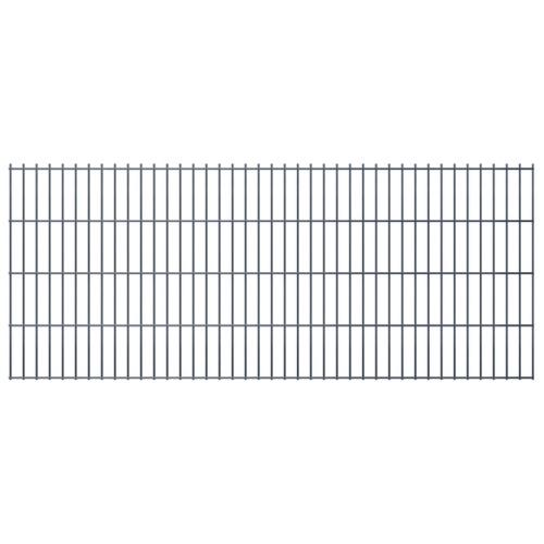 double rod matt fence garden fence & post 2008x830 mm 48 m gray