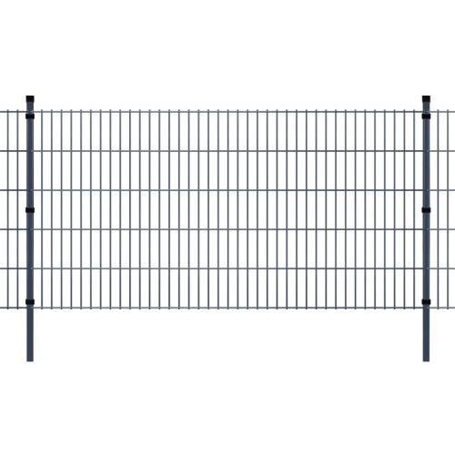 double rod matt fence garden fence & post 2008x1030 mm 38m grey
