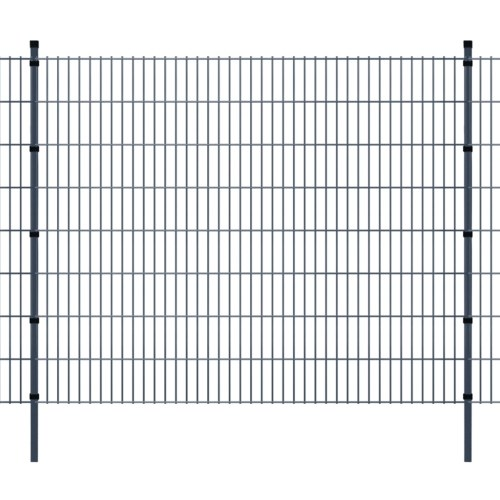 double rod matt fence garden fence & post 2008x1630 mm 34m grey