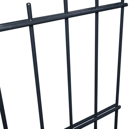 double rod matt fence garden fence & post 2008x1830 mm 46m grey