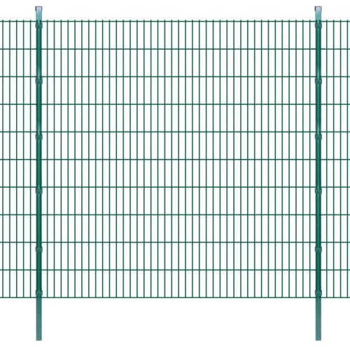 double rod matt fence garden fence & post 2008x2030 mm 30m green