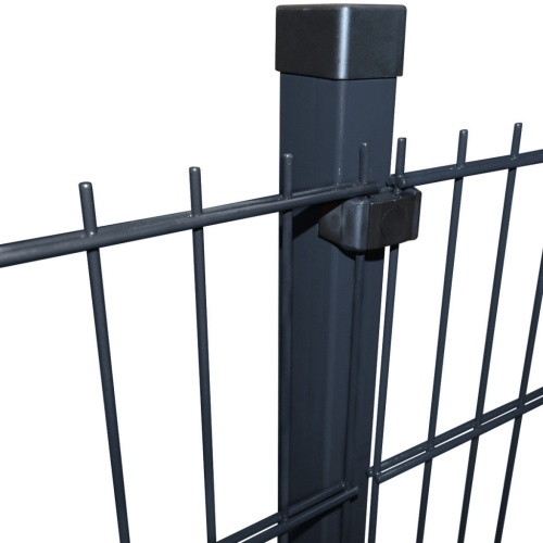 double rod matt fence garden fence & post 2008x2030 mm 12m grey