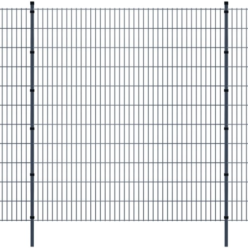 double rod matt fence garden fence & post 2008x2230 mm 10m grey