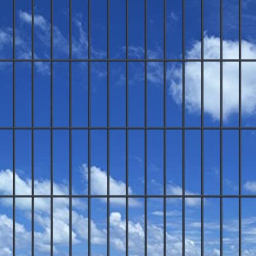2d garden fence panels 2008x1230 mm 28 m grey