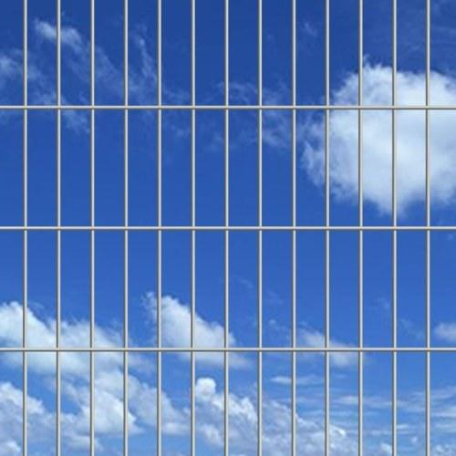 double rod matt fence garden fence 2008x1630 mm 30 m silver