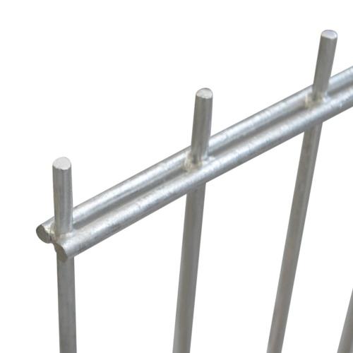 double rod matt fence garden fence 2008x1830 mm 34 m silver