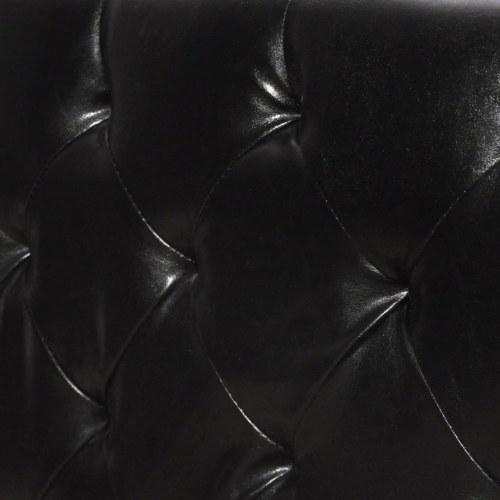 Двуспальная кровать с матрасом для пены памяти Черный 180x200 см