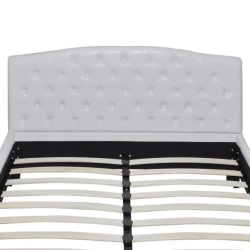 Двуспальная кровать с матрасом для пены памяти Белый 180x200 см