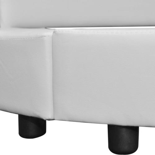 Кровать с матрасом 180 x 200 см Круглая искусственная кожа