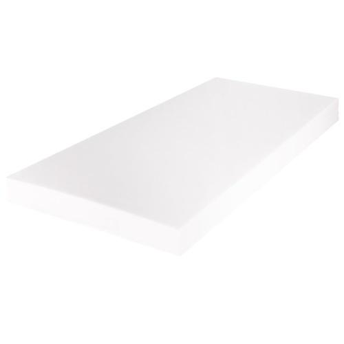 Кровать с матрасом и светодиодом 180x200 см круглой искусственной кожи черного цвета