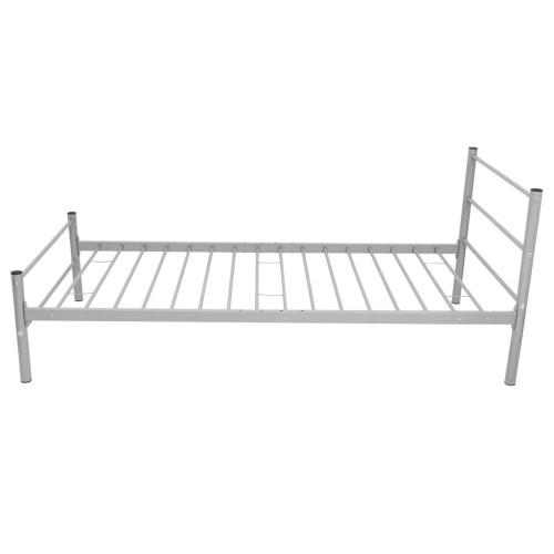 Односпальная кровать с памятью матрац металлический серый 90x200 см