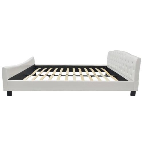 Двуспальная кровать с матрасом для пены памяти 180 x 200 см белый