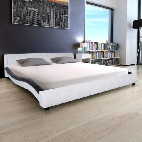 Кровать & Память Пена Матрац Синтетическая кожа 180 см Белый Черный
