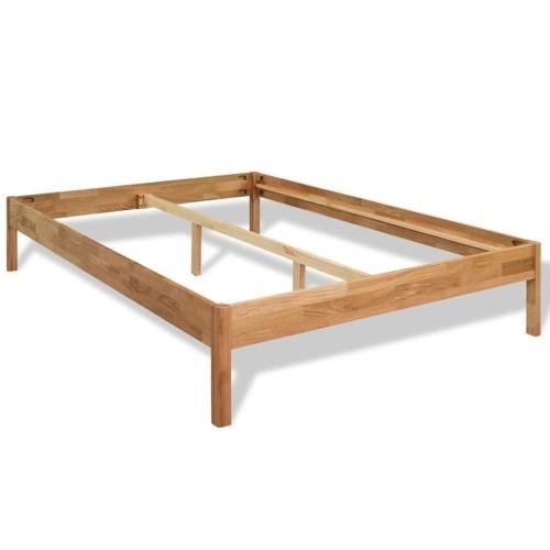 Двуспальная кровать с матрасом массивный дуб 140x200 см
