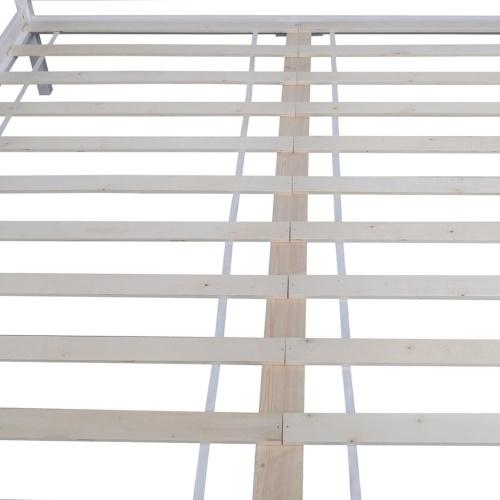 Двуспальная кровать с матрасом из сосны 180 x 200 см белый