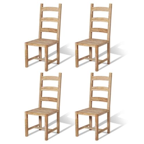 Массажные столовые стулья 4 шт. Тик 45.5x53x111 см