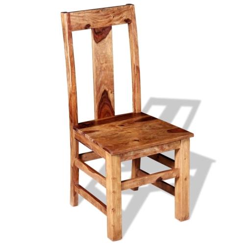 Sedie da pranzo in legno massello di Sheesham 4 pezzi (243964x2)