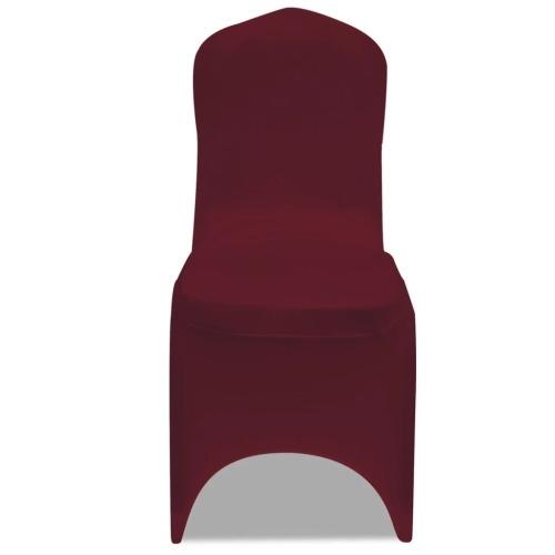 Coprisedie elasticizzate 100 pezzi rosso bordeaux