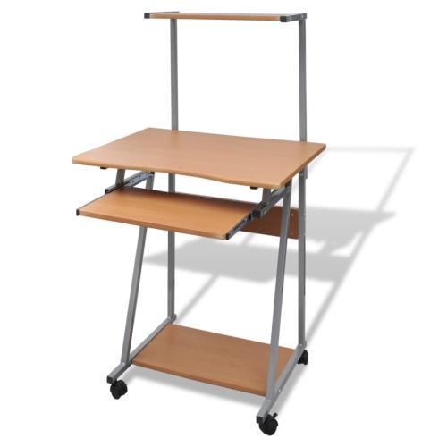 Компьютерный стол с выдвижной клавиатурой лоток Браун