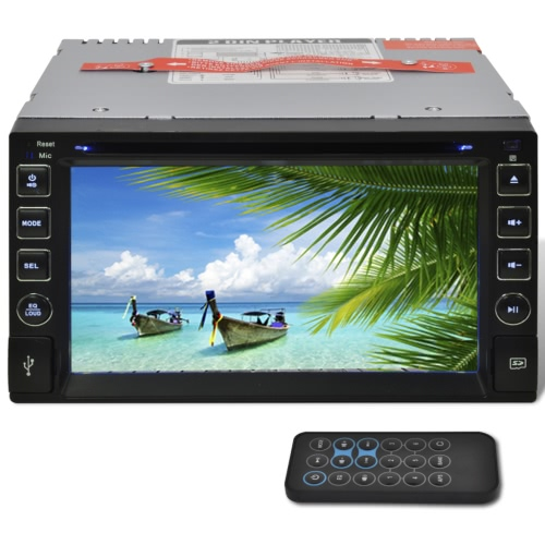 Car Stereo 2 DIN DVD Player 6,2 Inch HD Touchscreen Bluetooth SD USB
