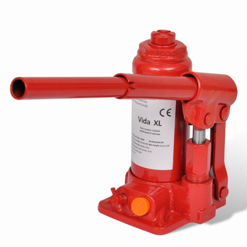 Bouteille hydraulique Jack 2 Ton Red Car Lift Automotive