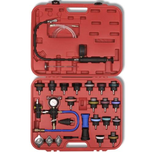 27 pezzi Tester radiatore pressione con spurgo a vuoto e kit di ricarica