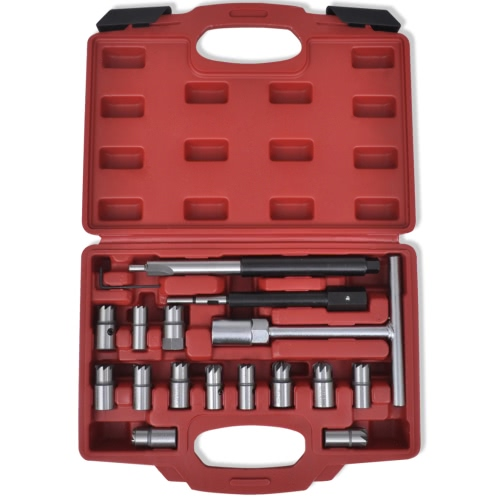 17 pcs Diesel Injector Seat Cutter Set