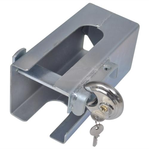 Anti-vol Accouplement de remorque Hitch avec serrure disque 110 x 110 mm