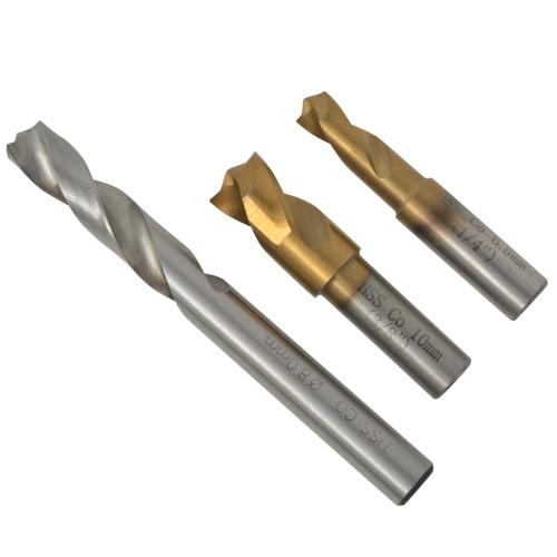 4 piece spot weld drill bit set hss-cobalt