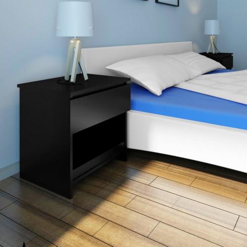 1 Выдвижные тумбочка Спальня Таблица Черный