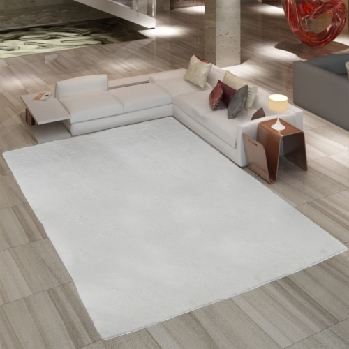 Creme Shaggy Carpet 160 x 230 cm Heavy Weight 2600 g / m²