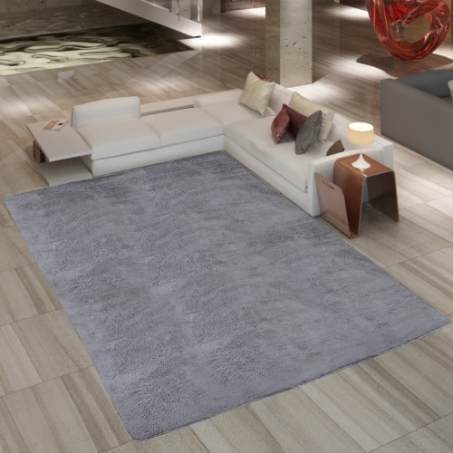 Grey Shaggy Carpet 160 x 230 cm Heavy Weight 2600 g / m²