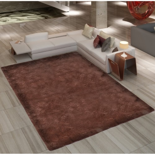 Brown Shaggy Carpet 200 x 290 cm Heavy Weight 2600 g / m²
